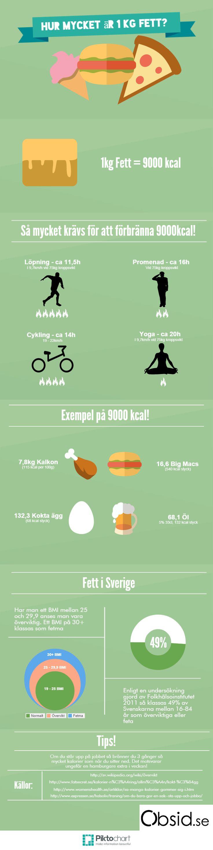 Hur mycket är ett kilo fett? Du är inte ensam om du undrar det. Grundläggande koll på kost och hälsa är kritiskt för att man inte skall bli fet som en gris.
