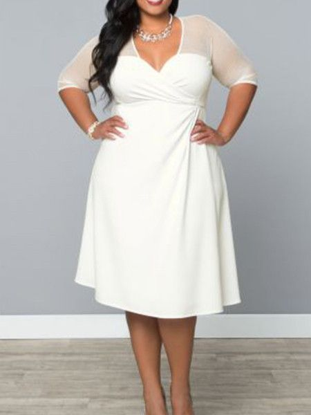 deep v dress plus size name