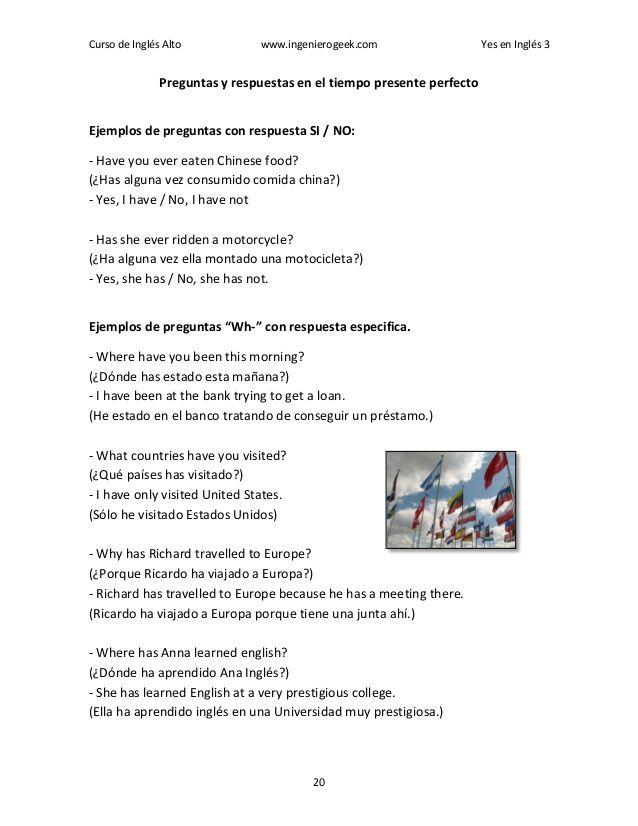 Libro Yes En Ingles 3 Pdf Completo Preguntas Con Respuestas Curso De Ingles Preguntas