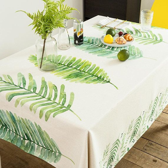 Redwood Leaves picnic tablecloth rectangle linen tablecloth