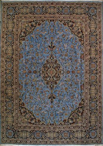 """Kashan Persian Rug, Buy Handmade Kashan Persian Rug 9' 9"""" x 13' 10"""", Authentic Persian Rug"""
