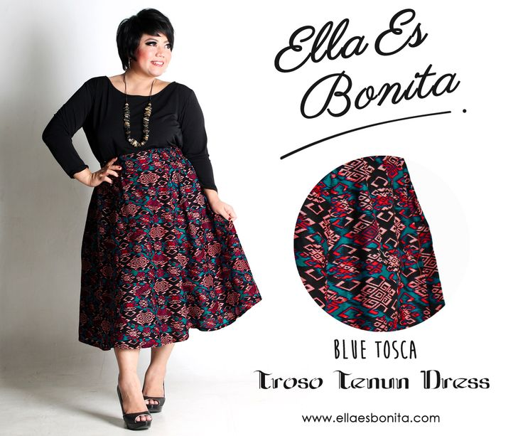 Troso Tenun Dress - This vintage batik dress features high quality jersey for the tops and batik cotton for the skirt which specially designed for sophisticated curvy women originally made by Indonesian Designer & Local Brand: Ella Es Bonita. Available at www.ellaesbonita.com