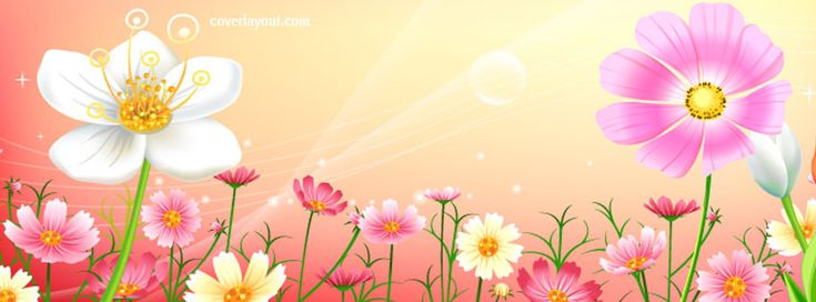 Flower Bubbles Facebook Cover coverlayout.com