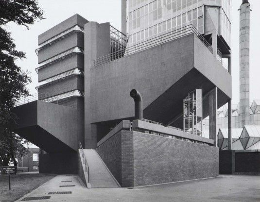 The Engineering Building at the University of Leicester | 1959 | Leicester, England | James Stirling