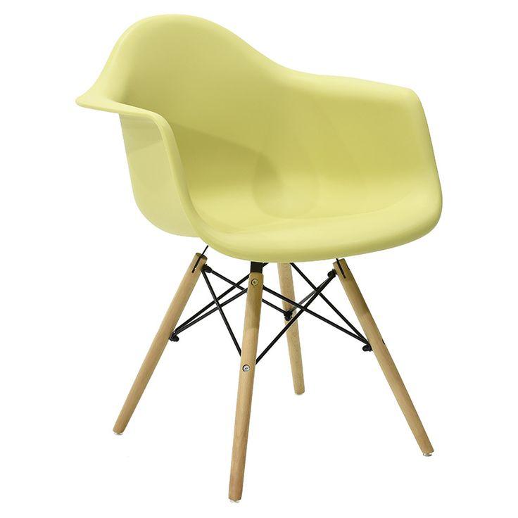 Propylene armchair Julita green