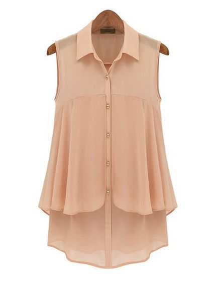 V Neck Chiffon Blouse Blouses from stylishplus.com