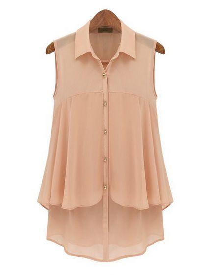 V Neck  Chiffon Blouse Blouses from stylishplus.com
