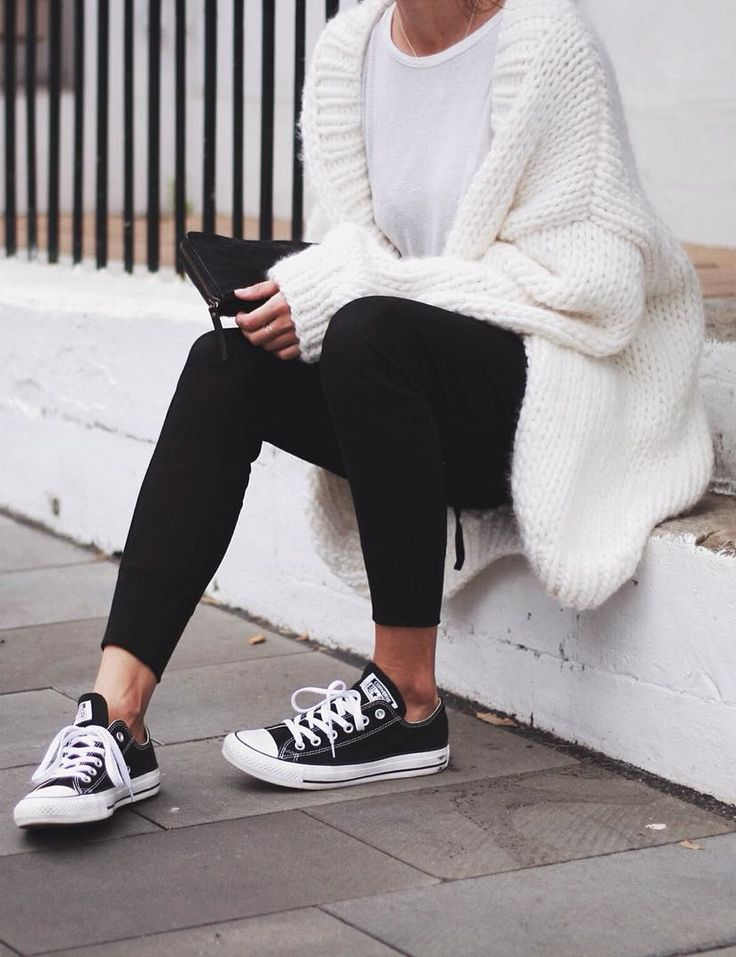 Chunky knit and leggings #Comfy                                                                                                                                                                                 More