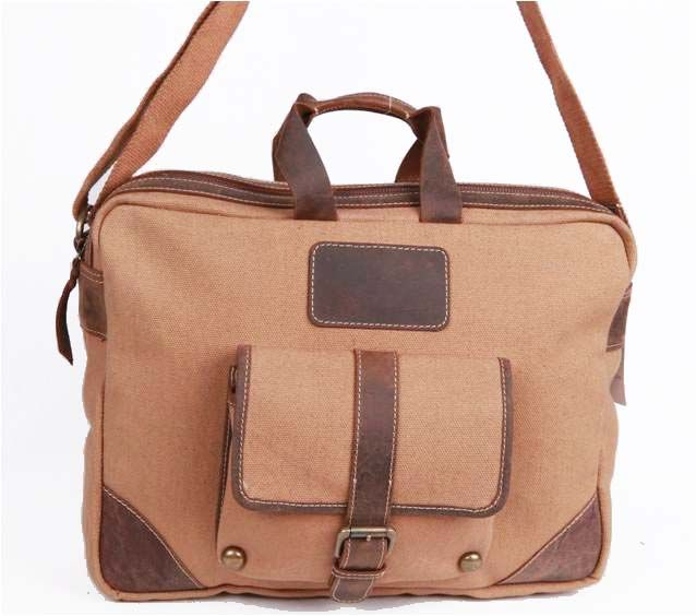 brown canvas bag