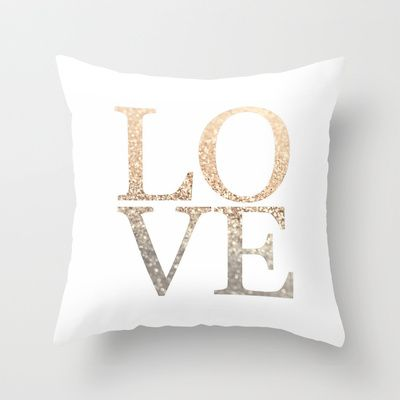 GATSBY GOLD LOVE Throw Pillow