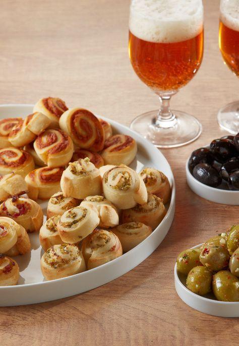 Schneller Snack für jeden Anlass - unsere Käseschnecken in vier Geschmacksrichtungen!