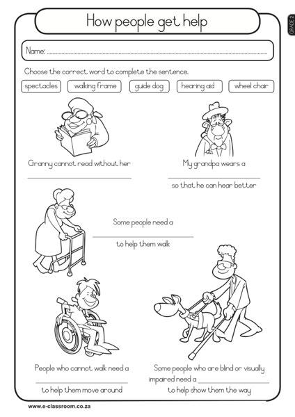 e-classroom-Free-Worksheets-Grade 2 Term 1 Lifeskills ...