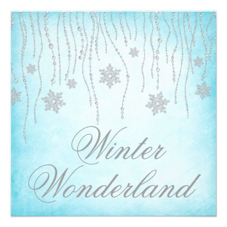 15 best winter wonderland sweet 16 invitations images on pinterest winter wonderland diamond snowflakes prom card pronofoot35fo Image collections