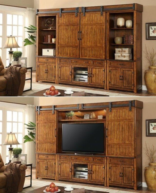 Bedroom Door Hardware Art Van Bedroom Furniture Bedroom Sofa Bedroom Furniture Handles: Open The Barn Doors For An Entertainment Center And Close
