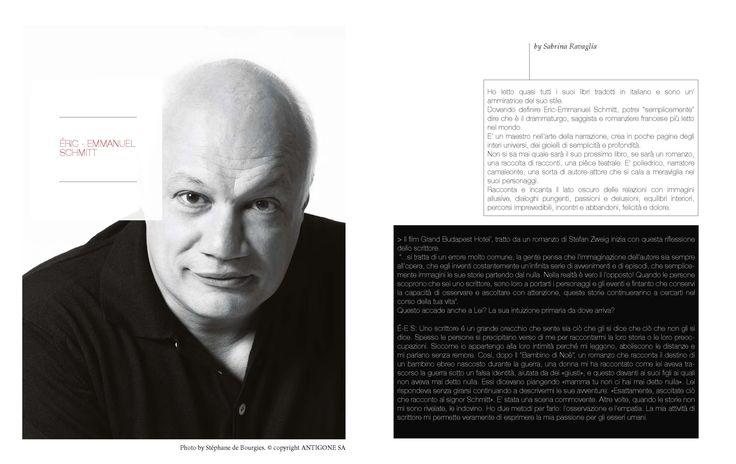 Interview Eric-Emmanuel Schmitt #schmitt photo #debourgies