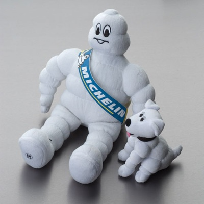 michelin man and his dog