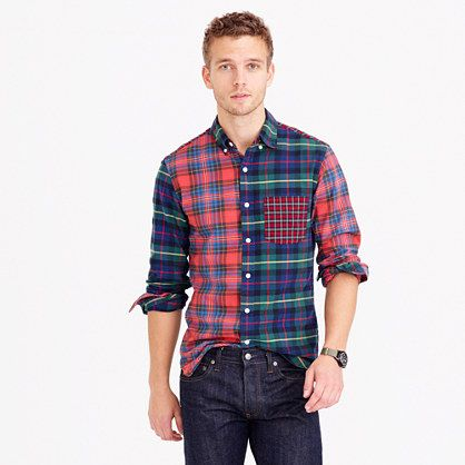 J.Crew Slim oxford cocktail shirt in plaid