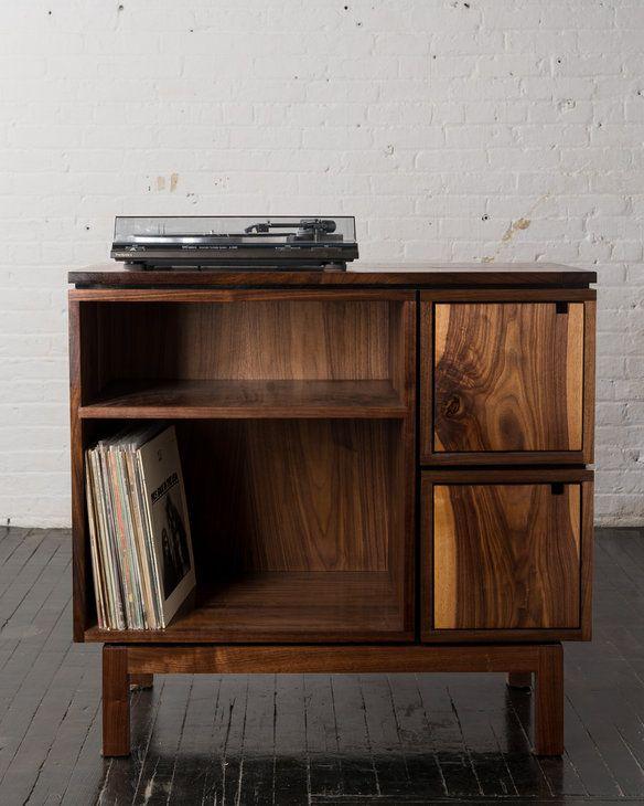 Walnut Record Player Stand