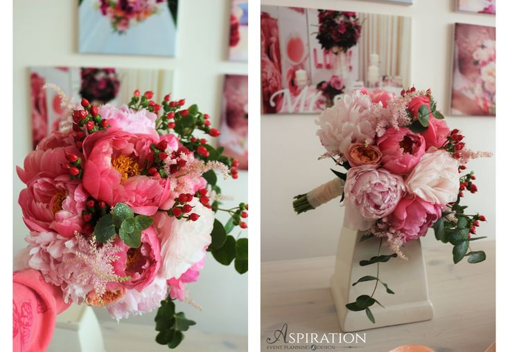 Buchet de mireasa cu bujori somon Bridal bouquet Salmon peonies Aspiration Events