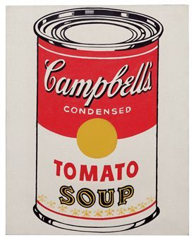 Andy Warhol- Campbells Soup Can Tomato (1962)