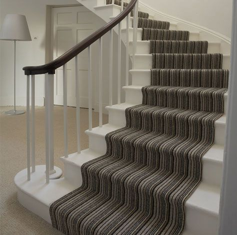 painted stairs with carpet runner - Google Search