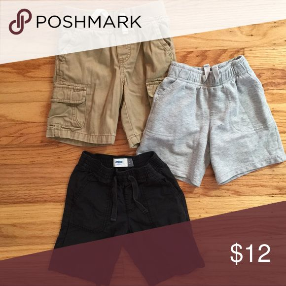 Toddler Shorts Pre-loved but still in good condition. Grey shorts have a small blue mark. Price may be negotiable if bundled. Old Navy Bottoms Shorts