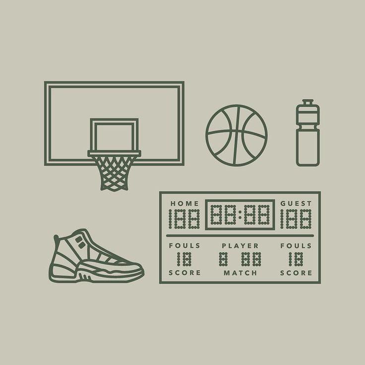 46/366  basketball icons  #illustration #flatdesign #icon #icondesign…