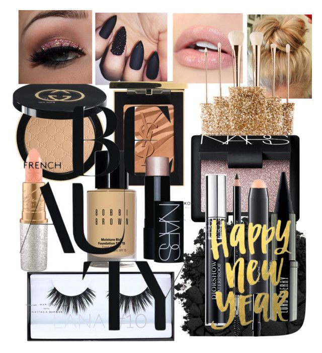 """Happy New French Beauty Eve #234"" by jennykenny-1 on Polyvore featuring beauty, Gucci, Huda Beauty, Yves Saint Laurent, Urban Decay, Bobbi Brown Cosmetics, NARS Cosmetics, MAC Cosmetics, Lord & Berry and Christian Dior"