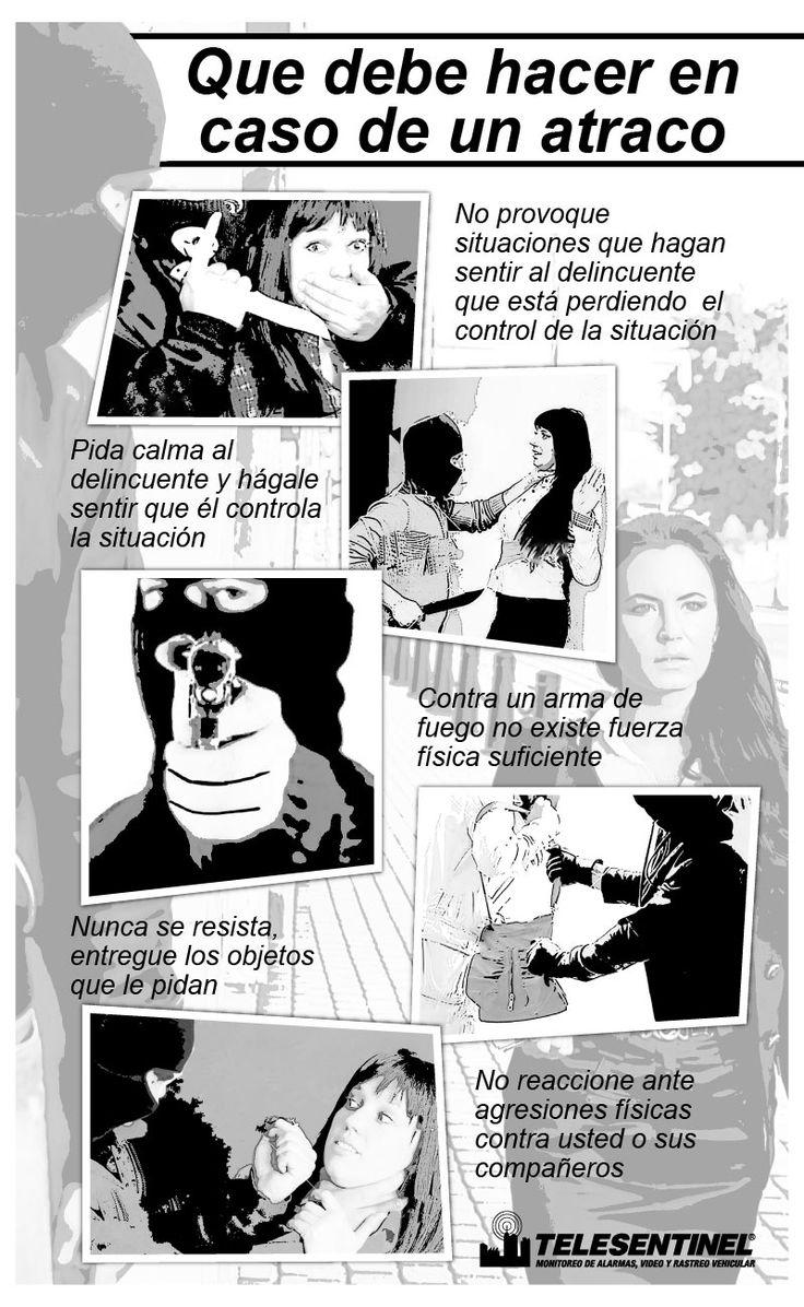 Toma nota a estos tips en caso de un atraco  Compártelo a tus amigos y familiares  #seguridad #protección www.telesentinel.com