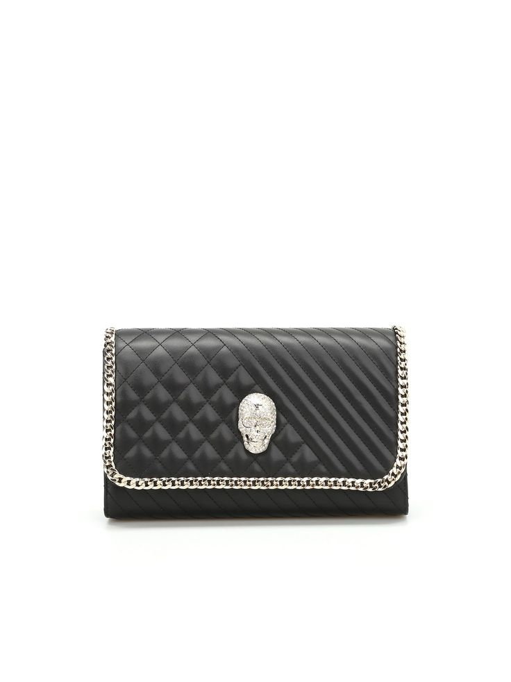 Philipp Plein Belle Quilted Leather Clutch
