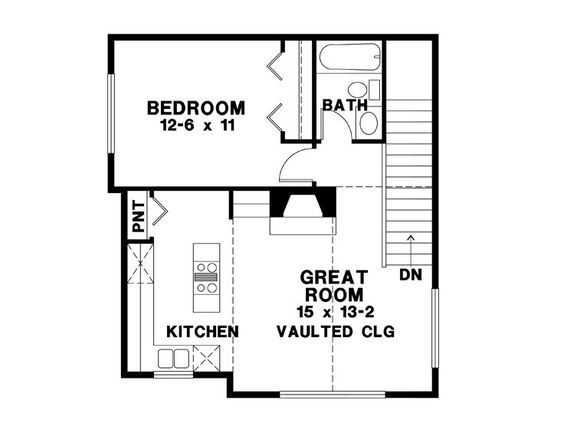 Garage w apartment above 2nd floor plan retirement for Garage studio apartment plans