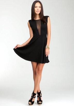 ShopStyle: Fit & Flare Sheer Back Dress