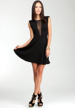 ShopStyle: Fit & Flare Sheer Back Dress