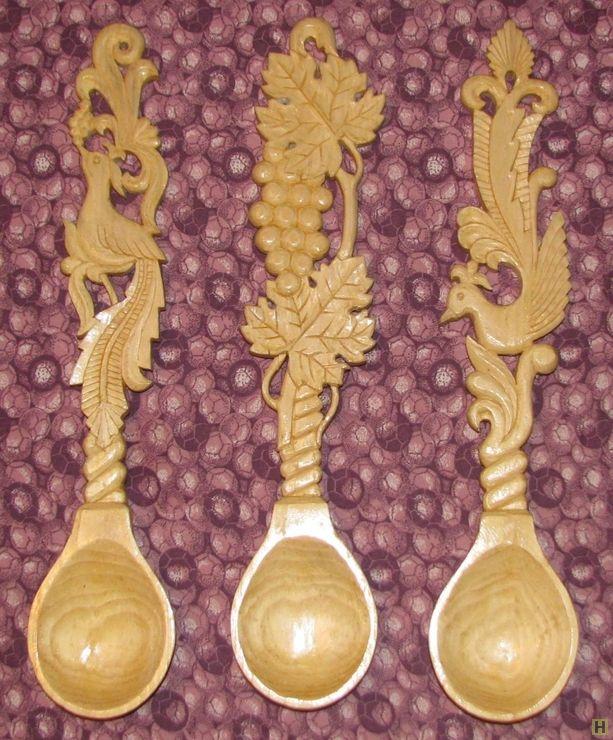 Декоративные деревянные ложки-1