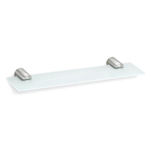 "Blomus 68528 DUO Glass Shelf 1.6"" X 19.7"" X 5.3"" by Blomus. $71.09. Contemporary bathroom accessory shelfStainless steel and glass materials. 19.7 inches wide, 5.3 inches deep. Mounting kit included. Contemporary bathroom accessory shelfStainless steel and glass materials. Mounting kit included. 19.7 inches wide, 5.3 inches deep.. Save 26% Off!"