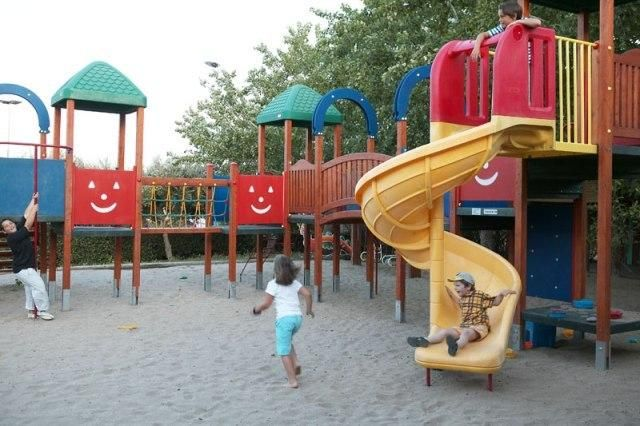 Outtdoor playground for your kids at Candia Park Village #crete #familyholidays #facilities