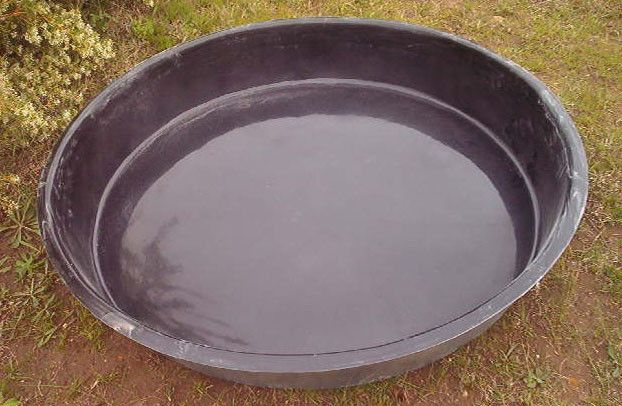 Round Black Pond Liner 1 2 Metre Diametre Deep