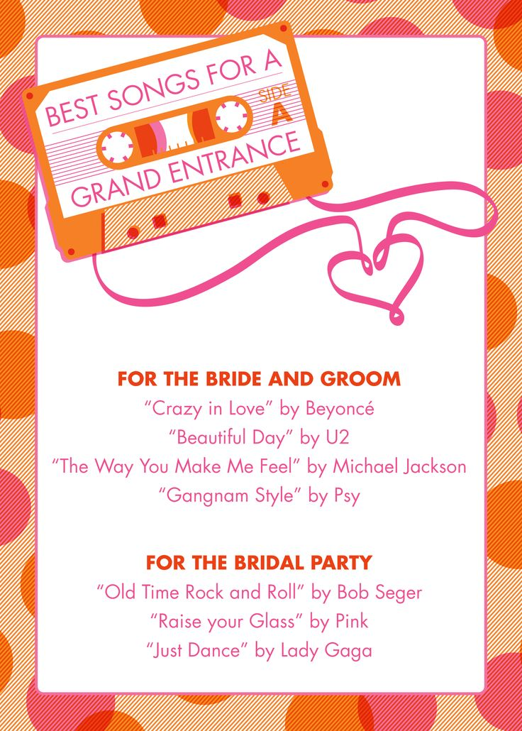 Best Songs For The Grand Entrance At Your Wedding