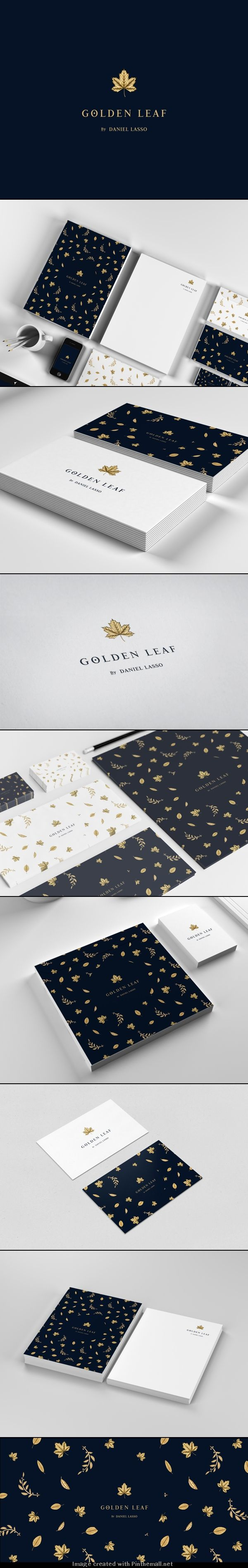 Golden Leaf #business-cards #branding #creative  pinned by www.website-designers.co.nz