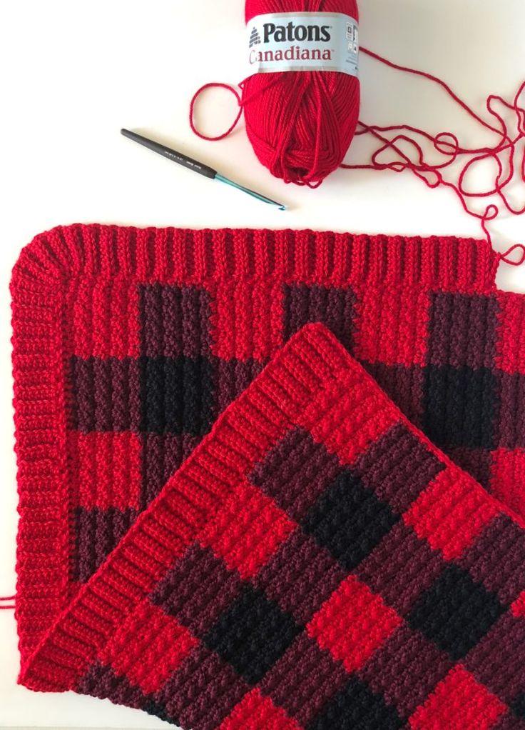 Red Buffalo Check Blanket Free Pattern By Daisy Farm