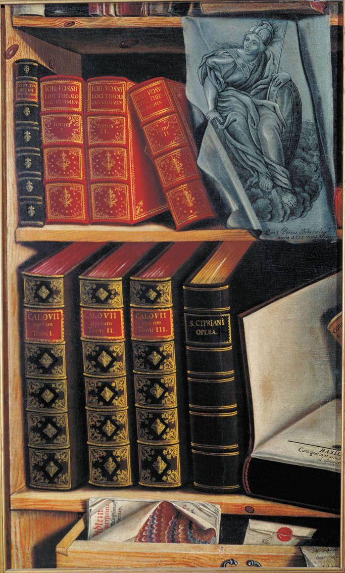 Натюрморт с книгами. Петр Богомолов, 1737 год. Усадьба Кусково.