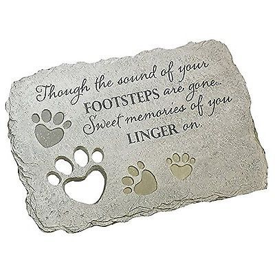 details about pet memorial garden stone by abbey press 56709t free ship