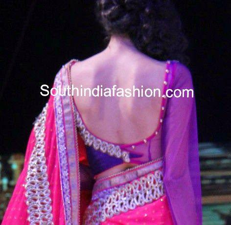últimos modelos blusa sari 2014