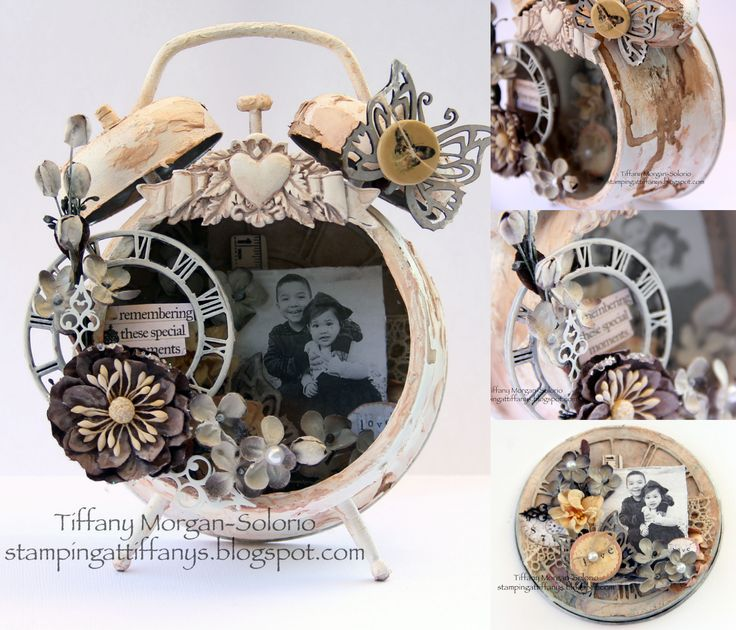 These clocks are on sale...and of course i feel like i need 50 of them so I can create treasures like this!