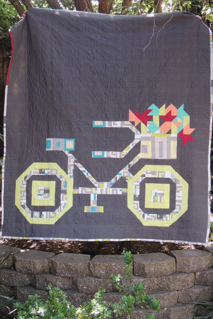 Modern Bicycle quilt