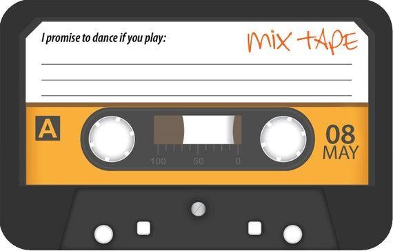 Cassette Tape Rsvp Card Etsy In 2021 Cassette Tapes Cassette Rsvp Card