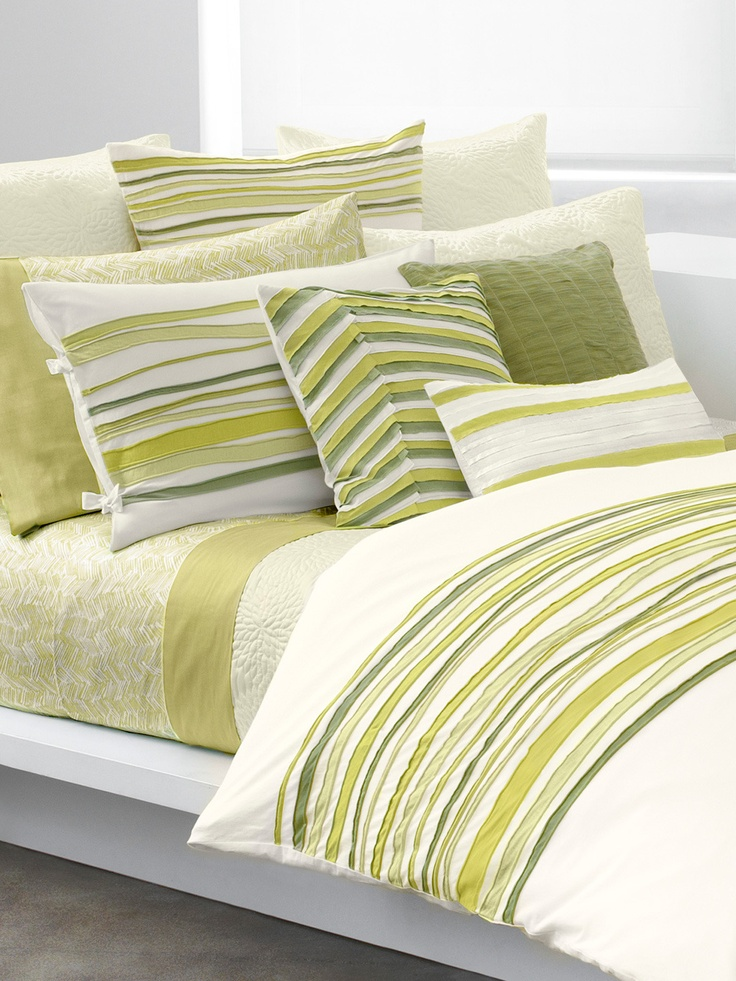 spring green!    DKNY Bedding  Weekend Tee Duvet Cover
