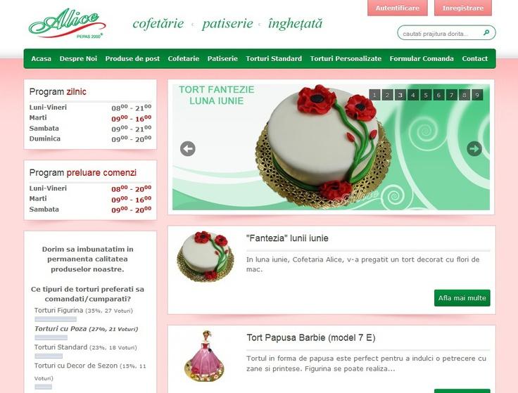 Web design Cofetaria Alice