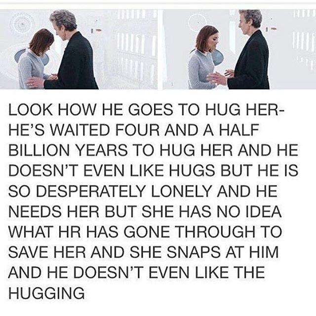 OH CLARA JUST HUG HIM #doctorwho #petercapaldi #jennacoleman #claraoswald