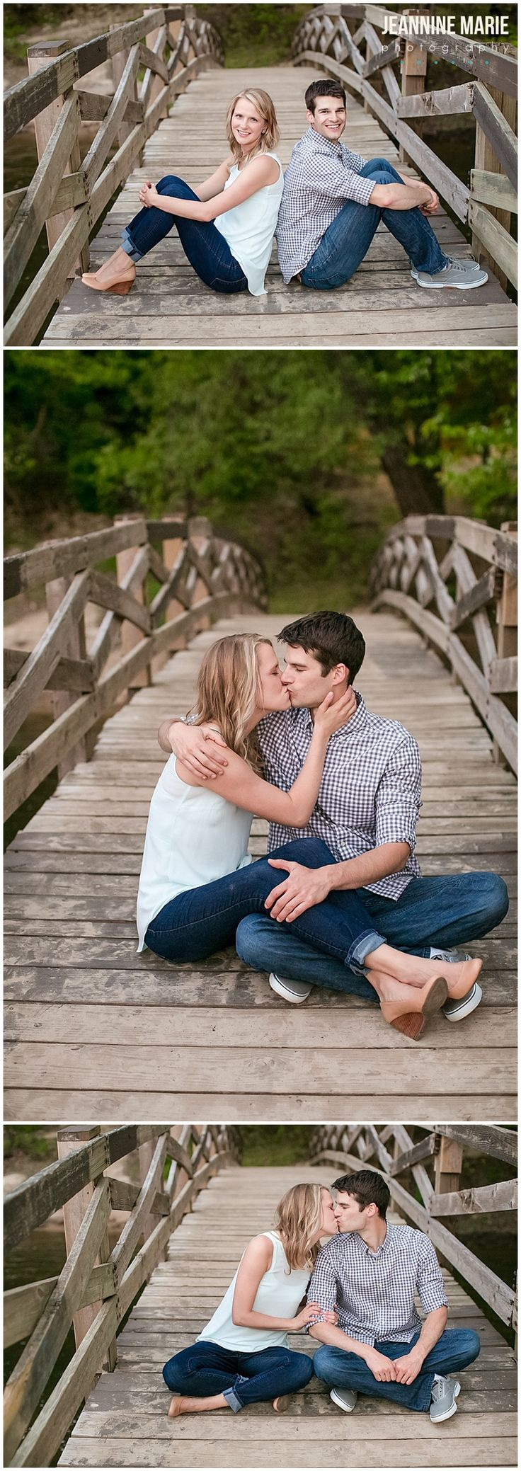 Summer engagement session at Minnehaha Falls in Minnesota. Photos by Saint Paul…